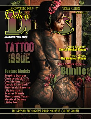 Delicious Dolls June 2021 Tattoo Issue Buniie Cover