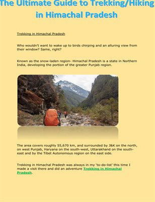 The Ultimate Guide To Trekking/ Hiking in Himachal Pradesh