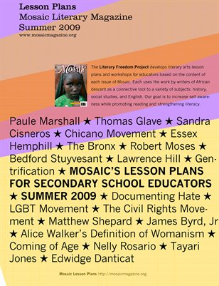 Mosaic Lesson Plan - Summer 2009