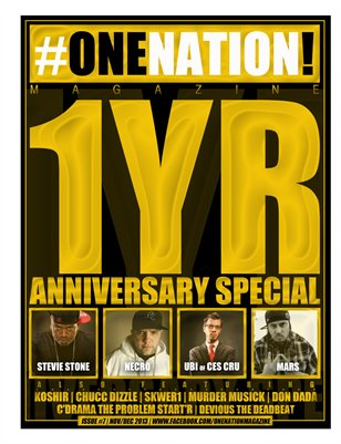 #OneNation! Magazine 1YR SPECIAL issue #7 (Nov/Dec 2013)