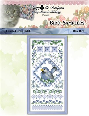 Bird Samplers Blue Bird Counted Cross Stitch Pattern