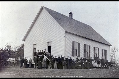 DEDICATION OF MT. CARMEL METHODIST CHURCH ABT. 1894, IUKA, LIVINGSTON COUNTY, KENTUCKY