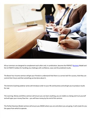 Business Seminars by Meir Ezra