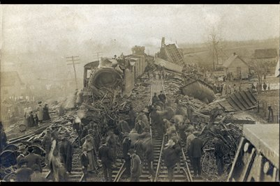 Train Wreck, Jan. 11, 1907, Bardwell, Carlisle County, Kentucky Photo 1