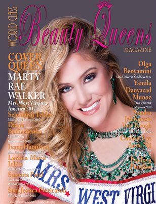 World Class Beauty Queens Magazine with Marty Walker Mrs. West Virginia America 2017