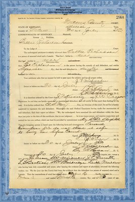 1923 State of Kentucky vs. Bittie Richardson, Graves County, Kentucky