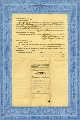 1922 Deed, Holmes to Holmes, Marshall County, Kentucky