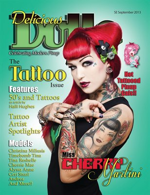 Delicious Dolls September 2013 Tattoo Issue - Cherry Martini cover
