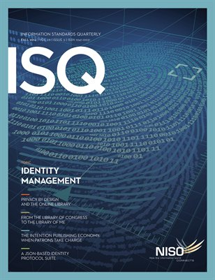 Information Standards Quarterly, Fall 2014 -- Identity Management