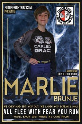 Marlie Brunje Blue Smoke Poster