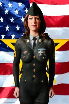 Army Military Body Painting Poster 2