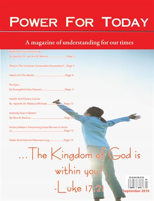 Power For Today Magazine, September 2010