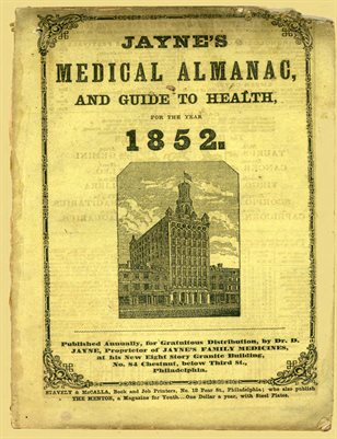 1852 Jayne's Medical Almanac and Guide to Health