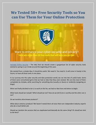 We Tested 50+ Free Security Tools so You can Use Them for Your Online Protection