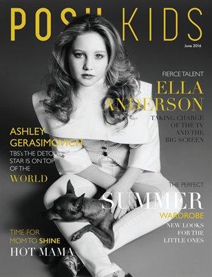 Posh Kids Magazine June 2016 - Ella Anderson Cover