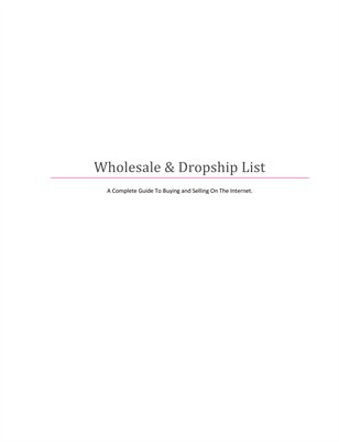 Wholesale & Dropship List