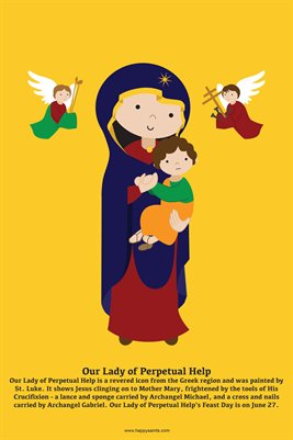 Happy Saints Our Lady of Perpetual Help Poster