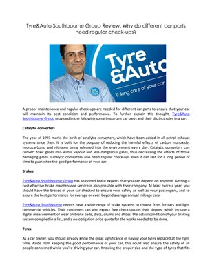 Tyre&Auto Southbourne Group Review: Why do different car parts need regular check-ups?