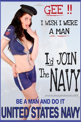 Navy Body Painting Poster WW2