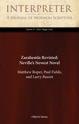 Zarahemla Revisted: Neville's Newest Novel