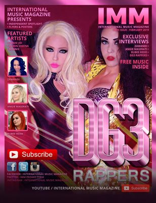 International Music Magazine - 10th Issue - EXCLUSIVE FEMALE ISSUE -  DG3 RAPPERS