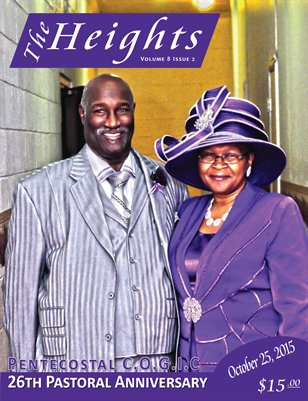 Volume 8 Issue 2 - 26th Pastoral Anniversary Pentecostal C.O.G.I.C.