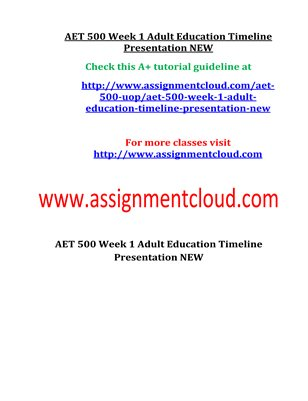AET 500 Entire Course NEW