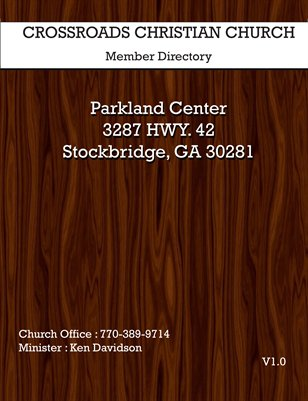 Crossroads Church Directory