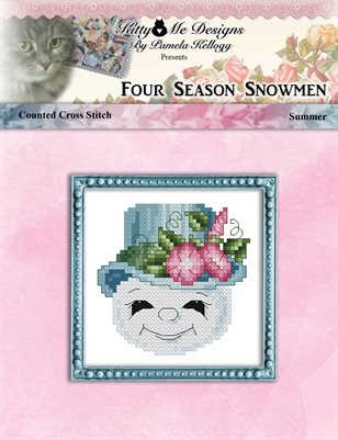 Four Season Snowmen Summer Cross Stitch Pattern