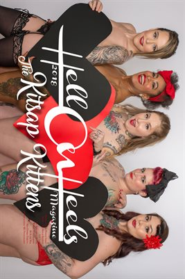 2018 Hell on Heels Magazine Month of love poster series THE KITSAP KITTENS Katie Mae