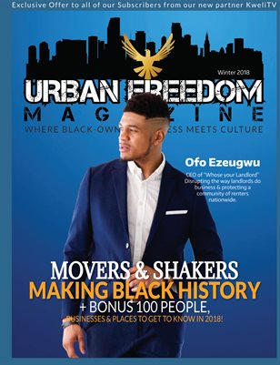 """Black History in the Making"" Vol 2:  Ofo Ezeugwu Cover"