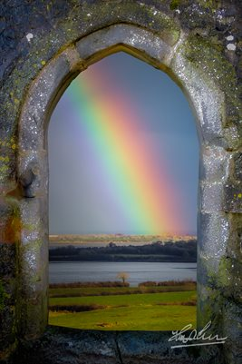 Spring Rainbow over Ireland's Shannon Estuary (POSTER)