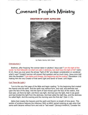Creation of Light: Alpha God