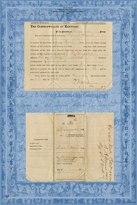 (PAGES 1-2) 1887-1892 Langston Vs. Harris, Graves County, Kentucky