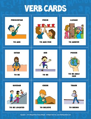Flash Cards - Spanish verbs  (#1.1)
