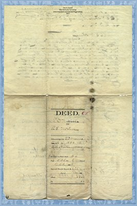 1899 Deed, Marris to McFall, Mayfield, Graves County, Kentucky