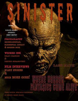 SINISTER Magazine-Issue #1-Lassi Matti Cover