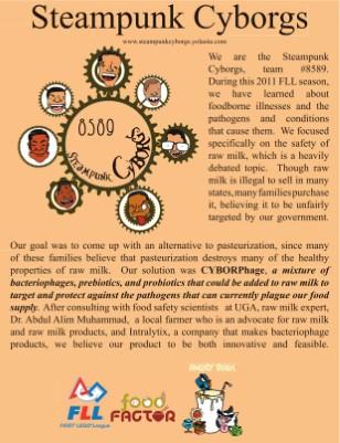 Steampunk Cyborg FLL 2011 Brochure