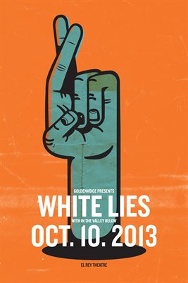White Lies Gig Poster