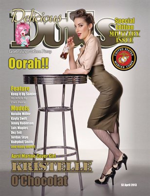Delicious Dolls April Military Issue 2 - Kristelle O' Chocolat cover