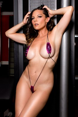 Nicole Ferreira Model String Bikini