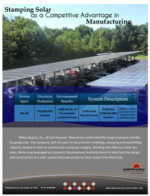 Weiss Aug Manufacturing Case Study Shows How To Use Solar Carports