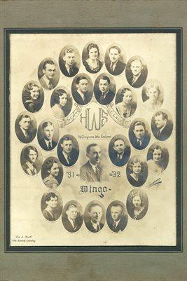 1931-32 CLASS, WINGO, GRAVES COUNTY, KENTUCKY