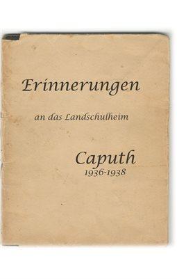 Erinnerungen an das Landschulheim, Caputh 1936-38