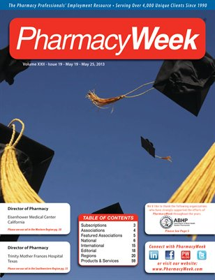 Pharmacy Week, Volume XXII, Issue 19 - May 19 - May 25, 2013