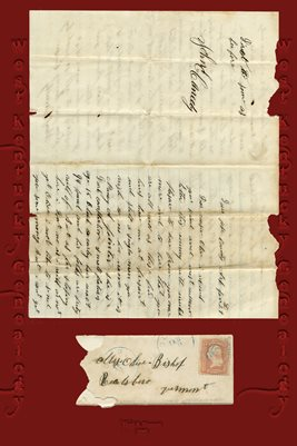 LETTER FROM JOHN E. CANEDY OF DOVER, POPE COUNTY, ARKANSAS TO COUSIN MRS. OLIVE BISHOP IN READSBORO, VERMONT