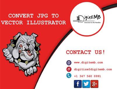 Convert JPG to Vector Illustrator