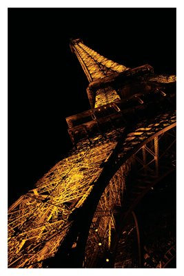 Eiffel Tower at Night (Poster)