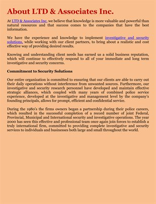 About LTD & Associates Inc.