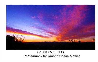 31 SUNSETS POSTCARD VISTAS